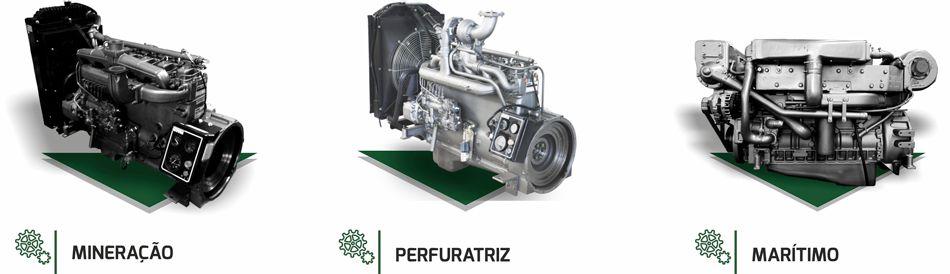 motores de aplicação especiais para máquinas de mineração, perfuratriz e marítimos